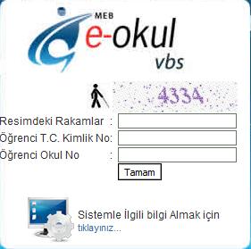 e-okul veli bilgilendirme sistemi