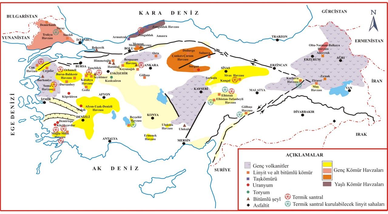 ülkemiz kömür madenleri haritası