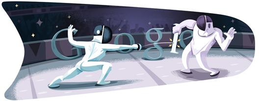 Londra 2012 Eskrim Google Doodle