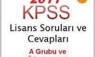 KPSS Lisans A Grubu ve Öğretmenlik Soruları Cevapları 9 Temmuz 2011
