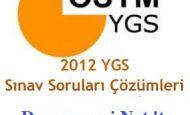2012 YGS Biyoloji Soruları Çözümleri