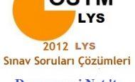 LYS-2 Fen Bilimleri Soru Çözümleri ve Cevapları Video 24 Haziran 2012