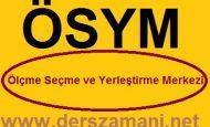 8 Eylül 2013 TUS Sınav Giriş Belgeleri ÖSYM