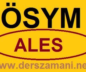 ALES Başvuru Kılavuzu ve Sayfası ÖSYM 2013 Eylül