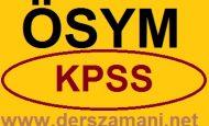 2014 KPSS Ne Zaman Sınav Tarihi