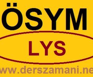 2014 LYS Ne Zaman Sınav Tarihi