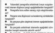 Paragrafta Ana Düşünce Nedir İlgili Sorular ve Örnekler
