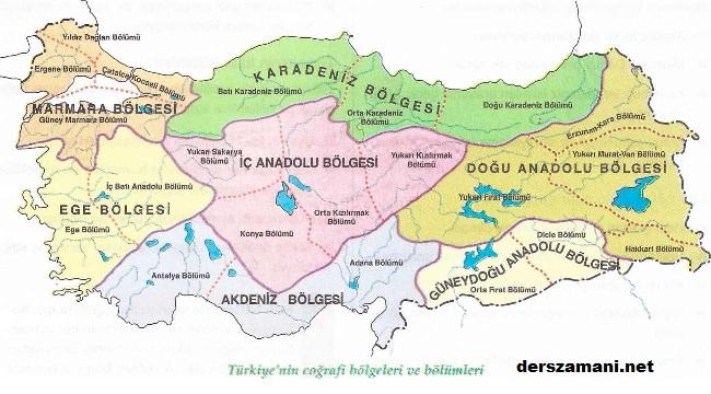 turkiyenincografibolgeleri