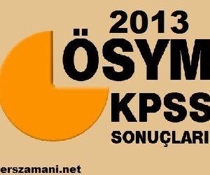KPSS Tercih Sonuçları 2013/2 ÖSYM