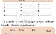 Harfleri Alfabetik Sıraya Koyma Yerleştirme Etkinliği 1. Sınıf