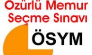 Özürlü Memur Seçme Sınavı ÖMSS – 29 Nisan 2012
