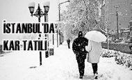 İstanbul'da Üniversitelere Kar Tatili Verildi 1 Şubat 2012