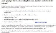 Facebook Sayfa Birleştirme