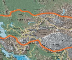 Asya Fiziki Haritasına Göre Orta Asya'nın Coğrafi Özellikleri