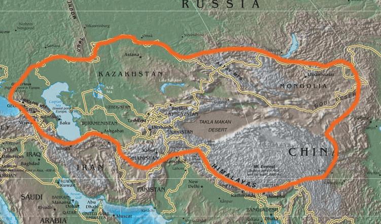orta asya fiziki haritası