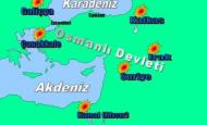 1. Dünya Savaşında Osmanlı Devletinin Savaştığı Cepheler Haritası