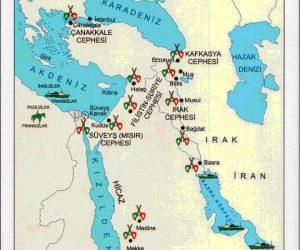 Birinci Dünya Savaşında Osmanlının Savaştığı Cepheler