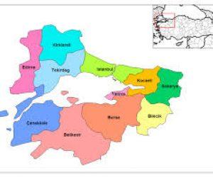Marmara Bölgesinin İl Nüfusu 2014