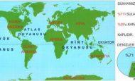 Dünyadaki Suların Karalara Oranı