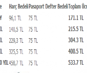 2014 Pasaport Harçları Ne Kadar