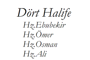 Dört-Halife