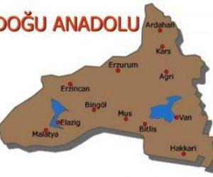 Doğu Anadolu Bölgesindeki Platoların İsimleri
