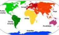 Yeryüzünde Kaç Kıta Vardır İsimleri Nelerdir?