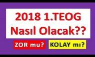 2018 TEOG Zor Mu Olacak Kolay mı Yorumlar ve Sınav Tarihi Ne Zaman